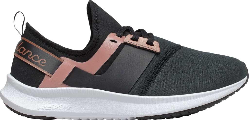 Women's New Balance Nergize Sport Athleisure Sneaker, Black/Rose Gold Metallic, large, image 2