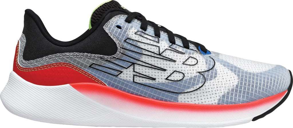 Men's New Balance BREAZA Fresh Foam Running Sneaker, Grey/Black/Yellow, large, image 2
