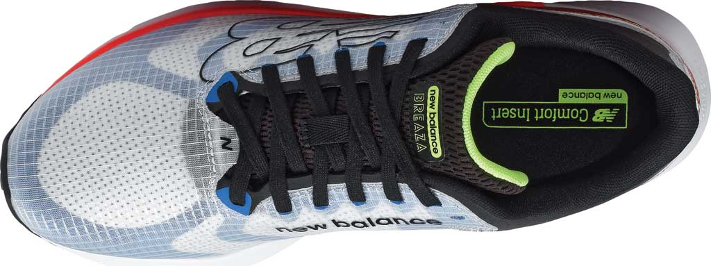 Men's New Balance BREAZA Fresh Foam Running Sneaker, Grey/Black/Yellow, large, image 4