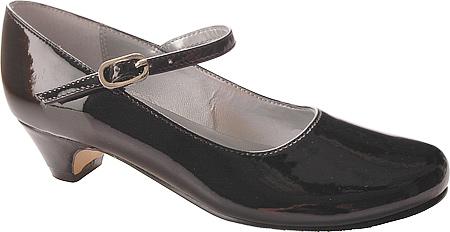 Girls' Nina Seeley Mary Jane, Black Patent Leather, large, image 1