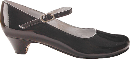 Girls' Nina Seeley Mary Jane, Black Patent Leather, large, image 2
