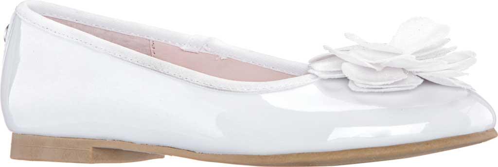 Girls' Nina Estela Ballet Flat, White Patent Synthetic, large, image 1