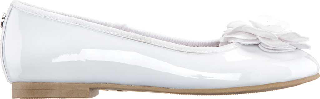 Girls' Nina Estela Ballet Flat, White Patent Synthetic, large, image 2