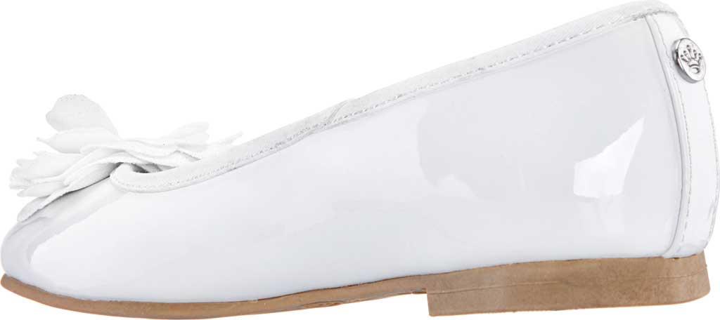 Girls' Nina Estela Ballet Flat, White Patent Synthetic, large, image 3