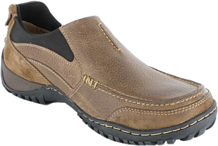 Men's Nunn Bush Portage 84227 Moc Toe Slip On, Prairie Beige Waxed Suede/Tumbled Leather, large, image 1