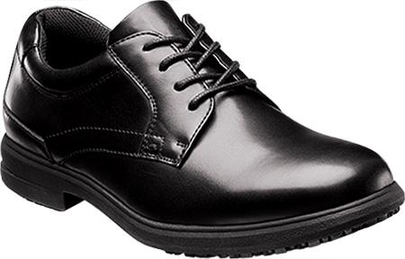 Men's Nunn Bush Sherman 84551 Oxford Mark II Slip Resistant, Black Smooth Leather, large, image 1