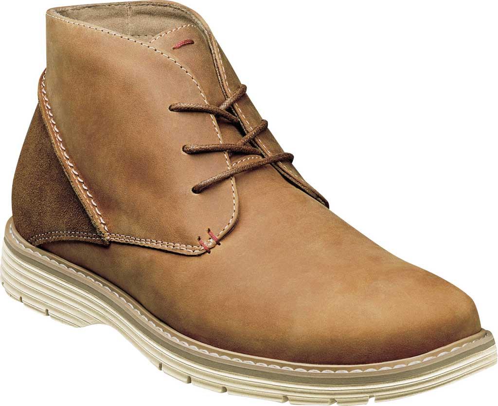 Men's Nunn Bush Littleton Plain Toe Chukka Boot, Tan Leather, large, image 1