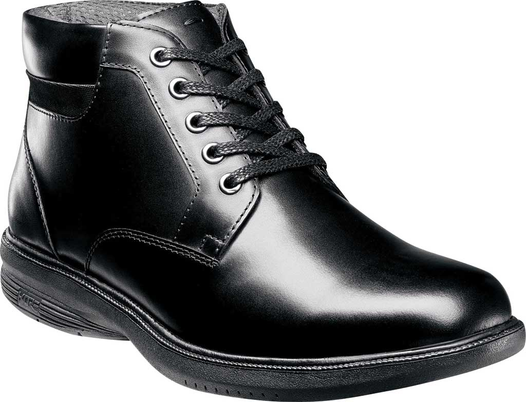 Men's Nunn Bush Memphis St. Moc Toe Waterproof Boot, Black Smooth Leather, large, image 1