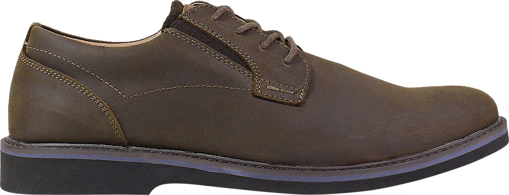 Men's Nunn Bush Barklay Plain Toe Oxford, Brown Crazy Horse Leather, large, image 2