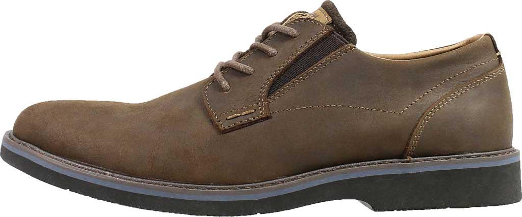 Men's Nunn Bush Barklay Plain Toe Oxford, Brown Crazy Horse Leather, large, image 3