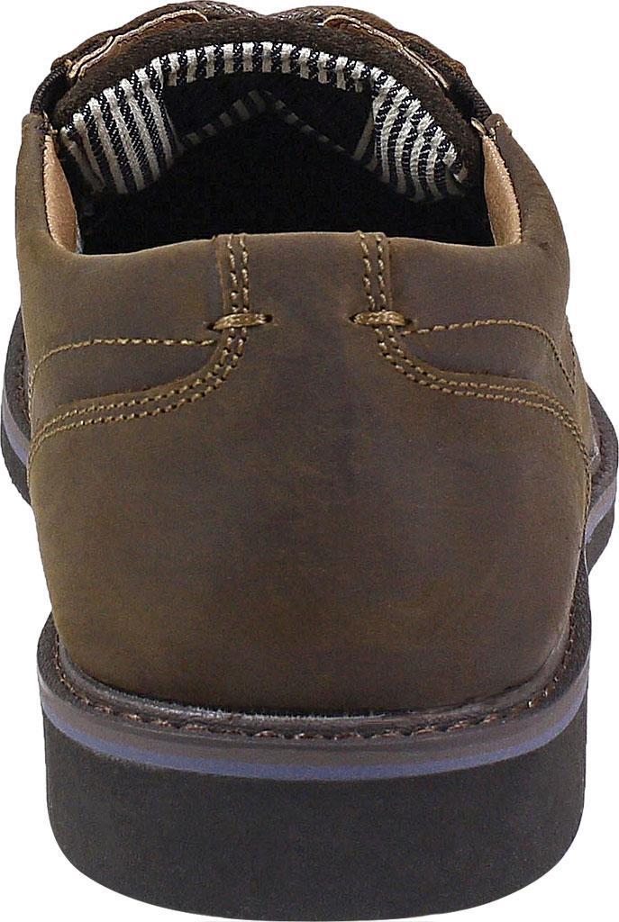 Men's Nunn Bush Barklay Plain Toe Oxford, Brown Crazy Horse Leather, large, image 4