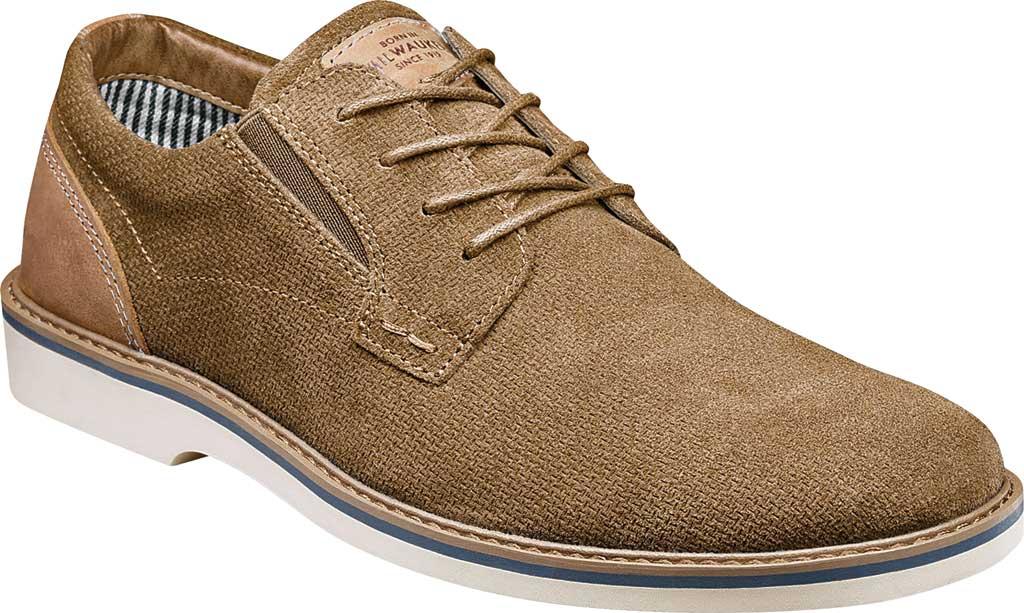 Men's Nunn Bush Barklay Plain Toe Oxford, Camel Multi Leather, large, image 1