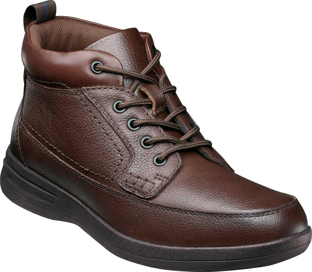 Men's Nunn Bush Cam Moc Toe Chukka Boot, Brown Tumbled Leather, large, image 1