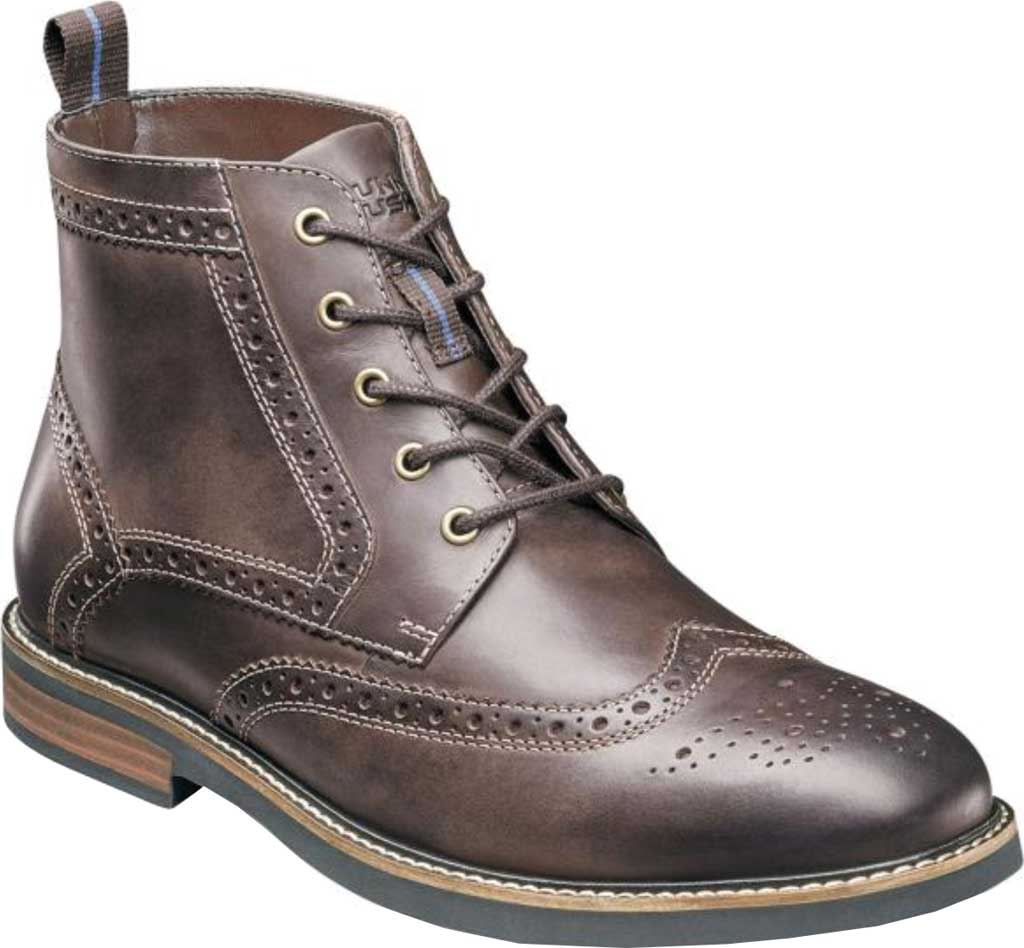 Men's Nunn Bush Odell Wingtip Chukka Boot, Brown Crazy Horse Leather, large, image 1