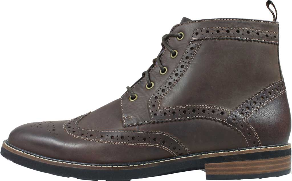 Men's Nunn Bush Odell Wingtip Chukka Boot, Brown Crazy Horse Leather, large, image 3