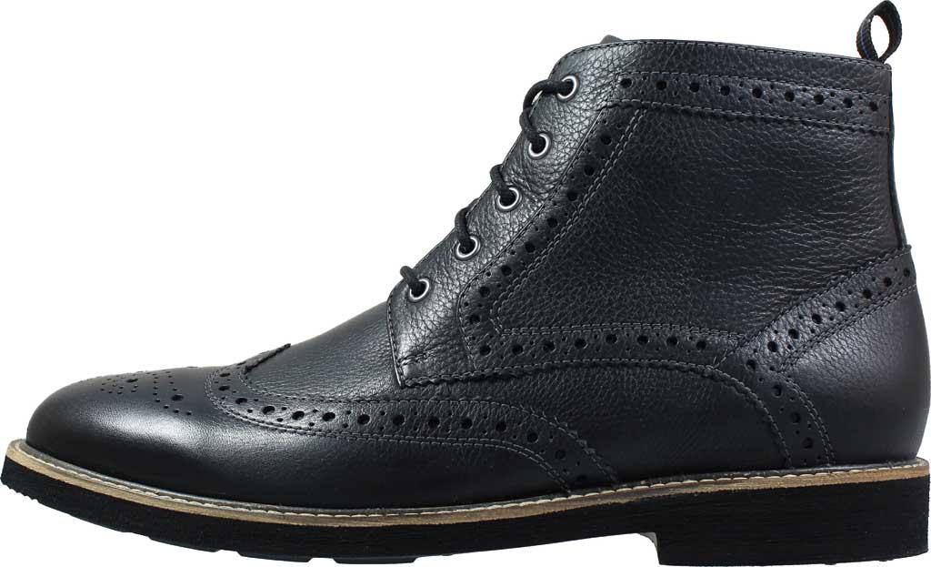 Men's Nunn Bush Odell Wingtip Chukka Boot, Black Tumbled Leather, large, image 2
