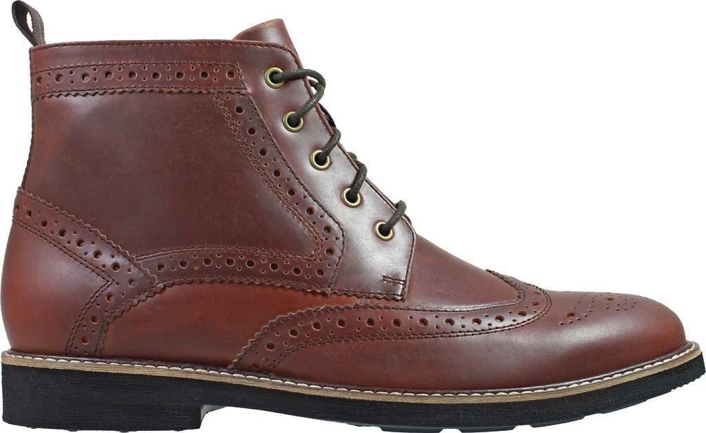 Men's Nunn Bush Odell Wingtip Chukka Boot, Rust Tumbled Leather, large, image 2