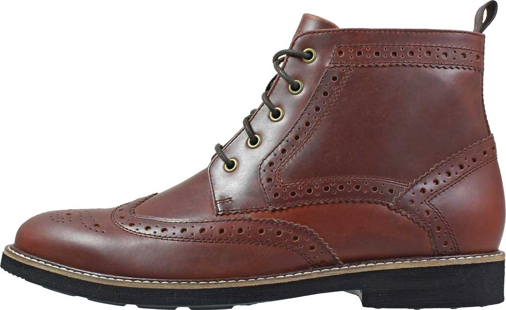 Men's Nunn Bush Odell Wingtip Chukka Boot, Rust Tumbled Leather, large, image 3