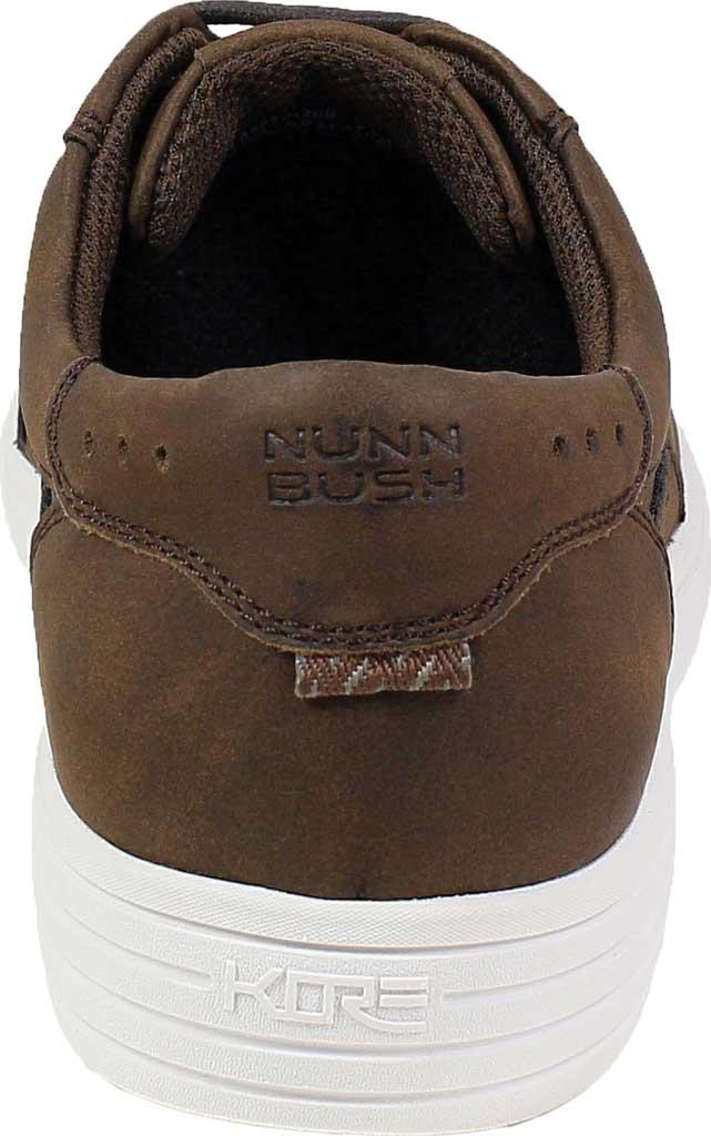Men's Nunn Bush Kore City Walk Lace To Toe Oxford, Brown Faux Leather, large, image 4