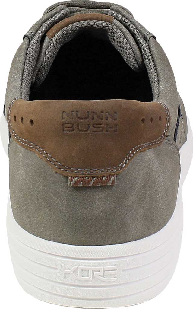 Men's Nunn Bush Kore City Walk Lace To Toe Oxford, Charcoal Faux Leather, large, image 4