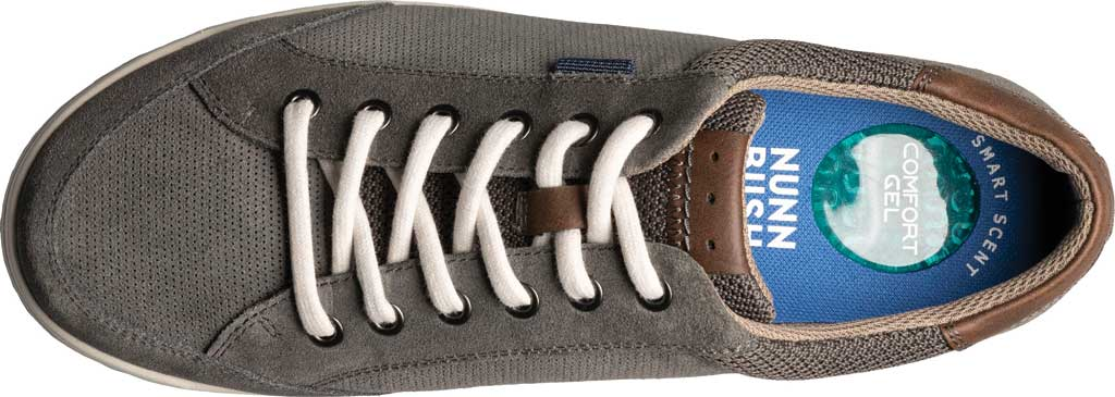Men's Nunn Bush Kore City Walk Lace To Toe Oxford, Gray Multi Perforated Leather, large, image 4