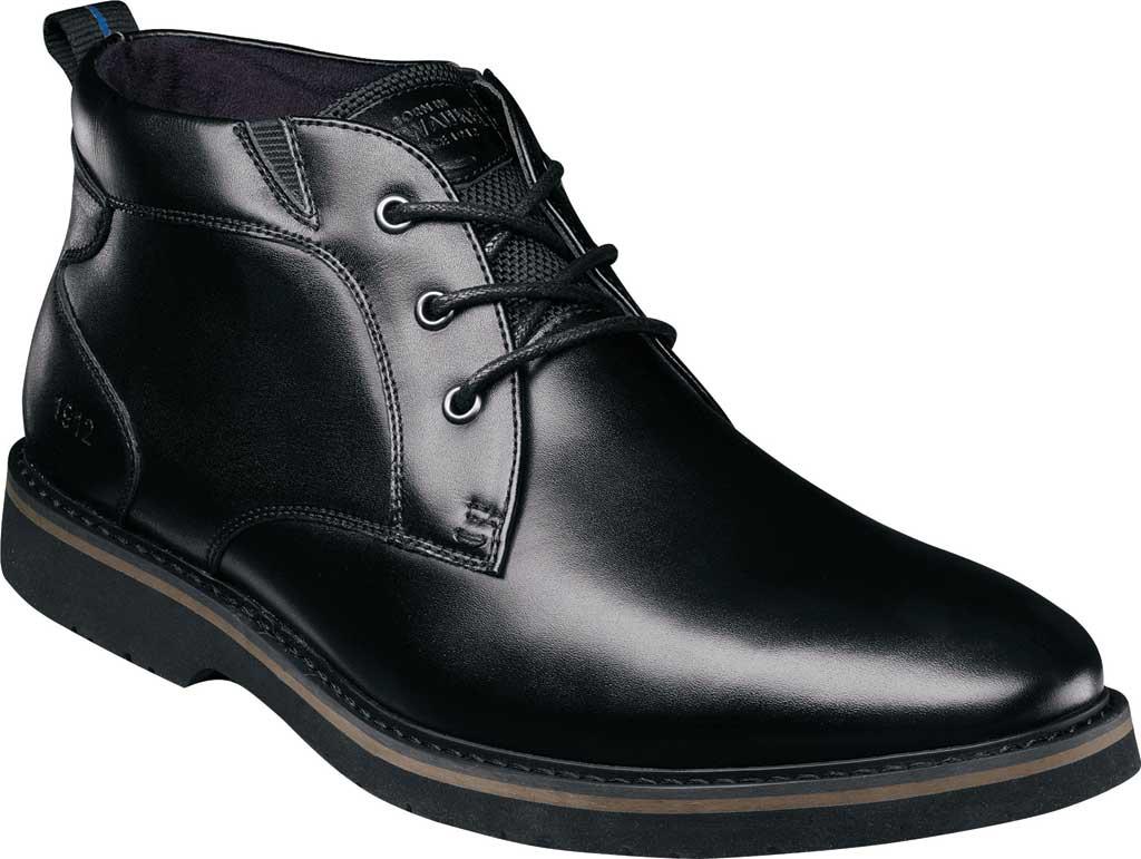 Men's Nunn Bush Denali Waterproof Plain Toe Chukka Boot, Black Waterproof Leather, large, image 1