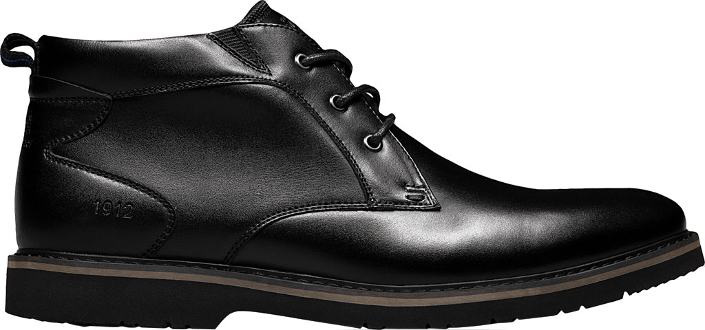 Men's Nunn Bush Denali Waterproof Plain Toe Chukka Boot, Black Waterproof Leather, large, image 2
