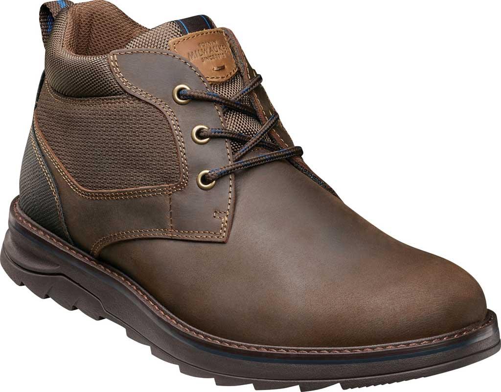 Men's Nunn Bush Luxor Plain Toe Chukka Boot, Brown Crazy Horse Leather, large, image 1