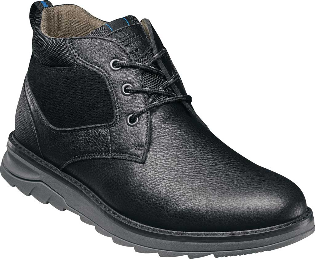 Men's Nunn Bush Luxor Plain Toe Chukka Boot, Black Tumbled Leather, large, image 1