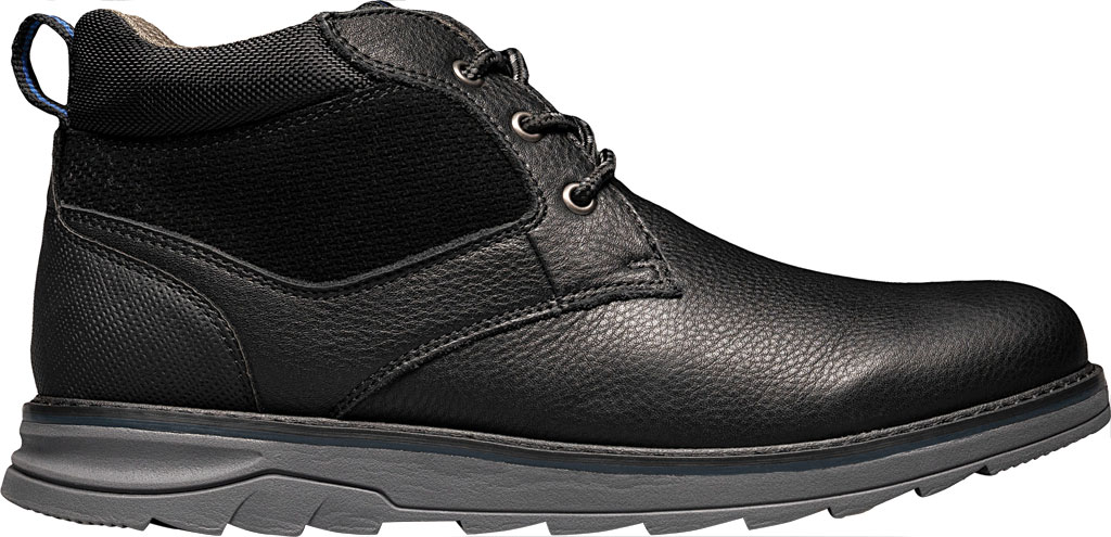 Men's Nunn Bush Luxor Plain Toe Chukka Boot, Black Tumbled Leather, large, image 2
