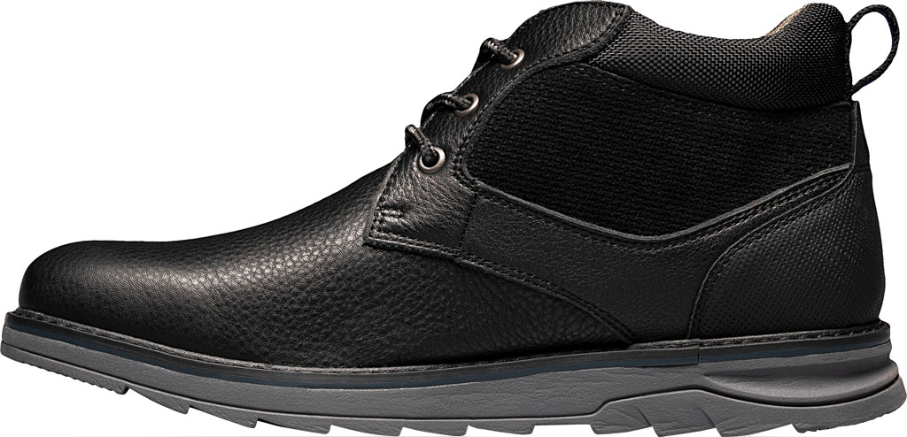 Men's Nunn Bush Luxor Plain Toe Chukka Boot, Black Tumbled Leather, large, image 3