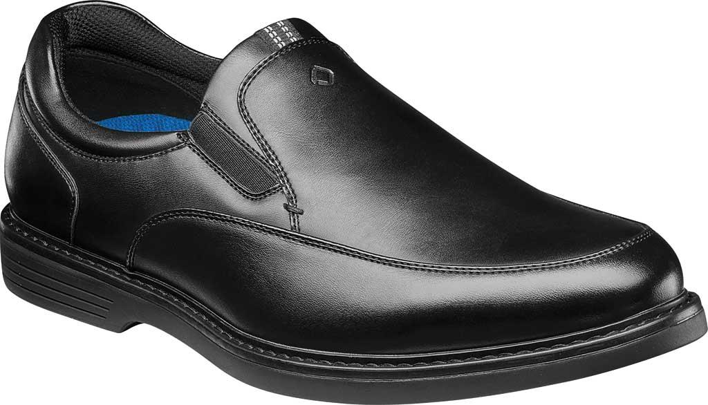 Men's Nunn Bush Wade Work Slip On Loafer, Black Faux Leather, large, image 1