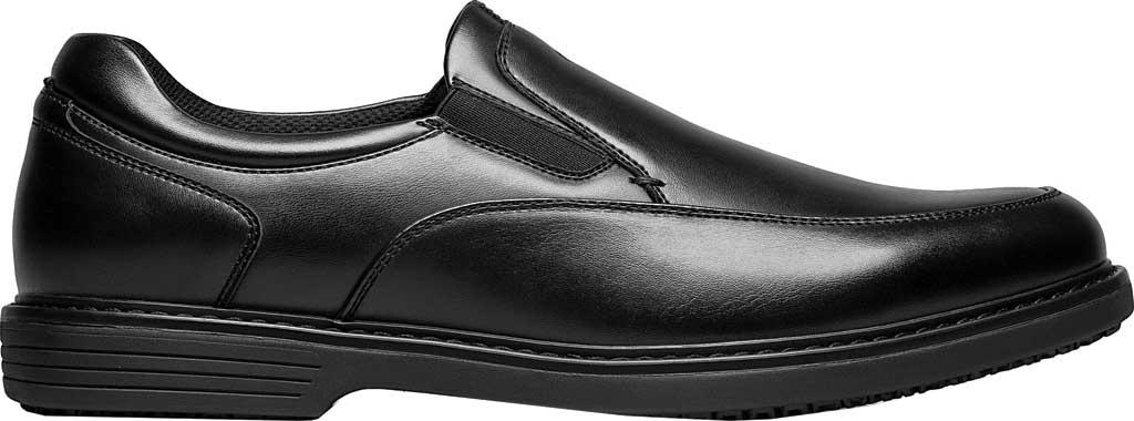 Men's Nunn Bush Wade Work Slip On Loafer, Black Faux Leather, large, image 2