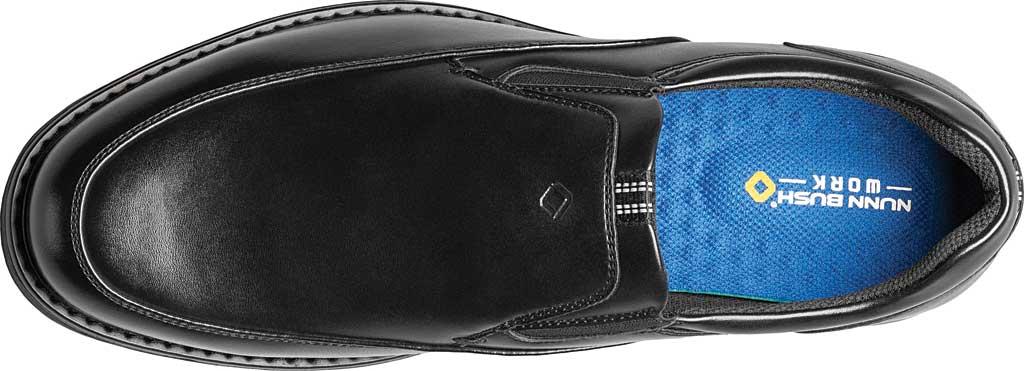 Men's Nunn Bush Wade Work Slip On Loafer, Black Faux Leather, large, image 5