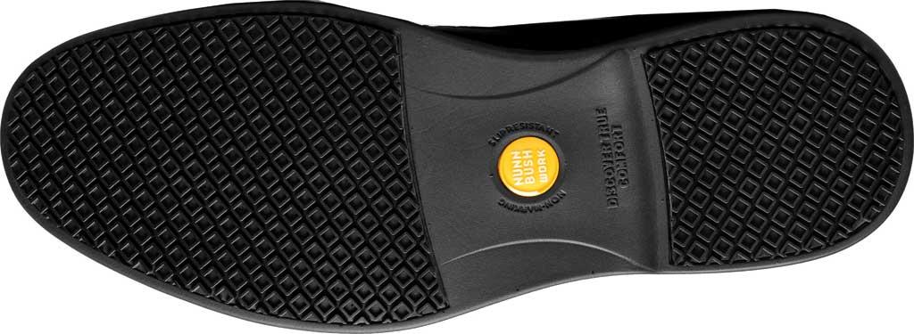 Men's Nunn Bush Wade Work Slip On Loafer, Black Faux Leather, large, image 6
