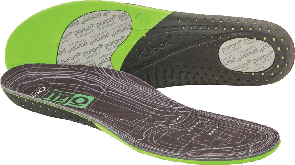 Oboz O FIT Insole Plus Medium Arch, Green, large, image 1
