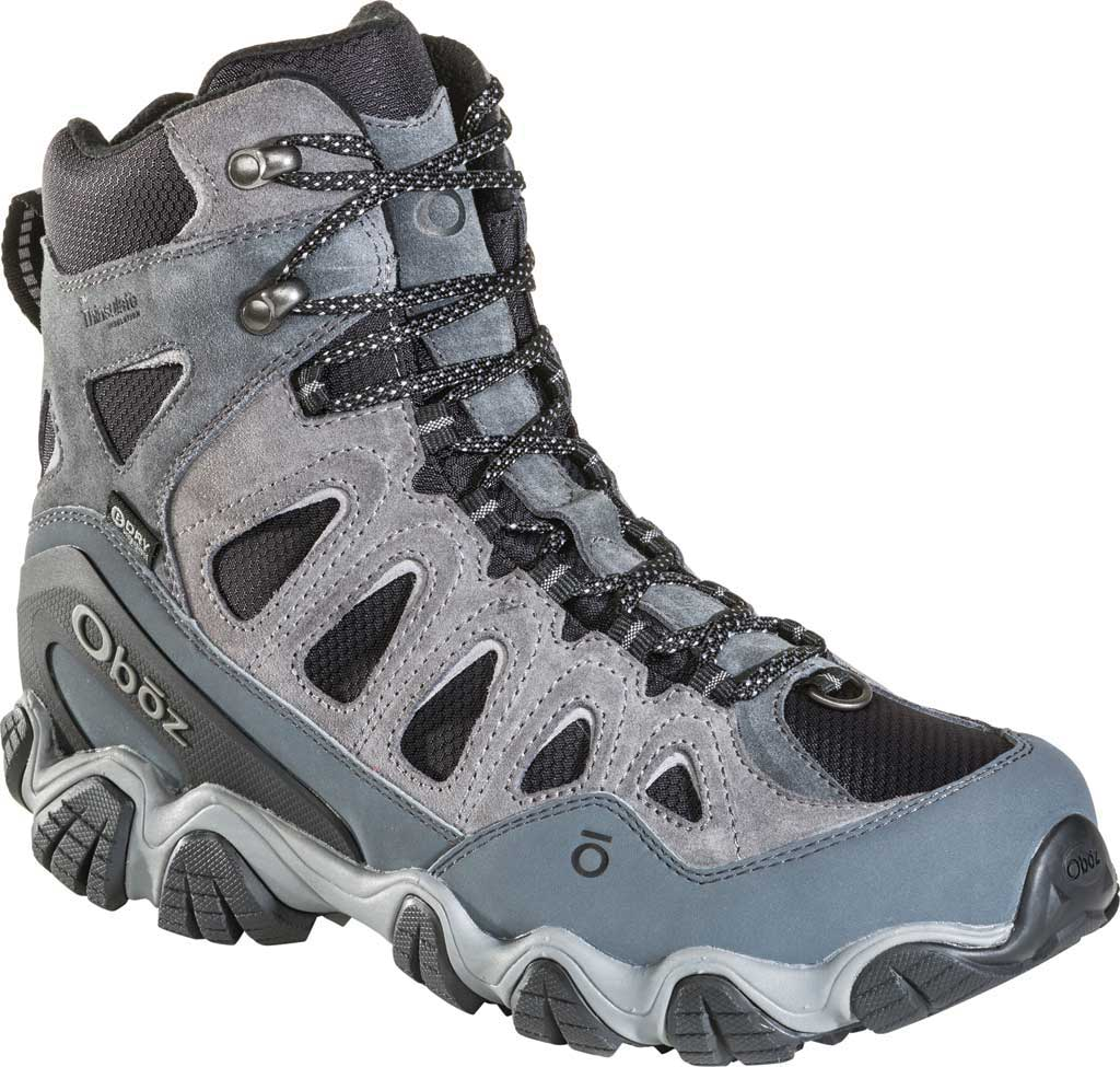 """Men's Oboz Sawtooth II 8"""" Insulated B-DRY Waterproof Boot, Pewter/Frost Grey Waterproof Split Suede/Textile, large, image 1"""