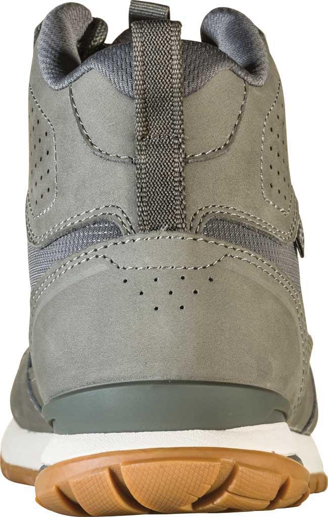 Men's Oboz Bozeman Mid Sneaker, Steel Waterproof Nubuck/Recycled Textile, large, image 4