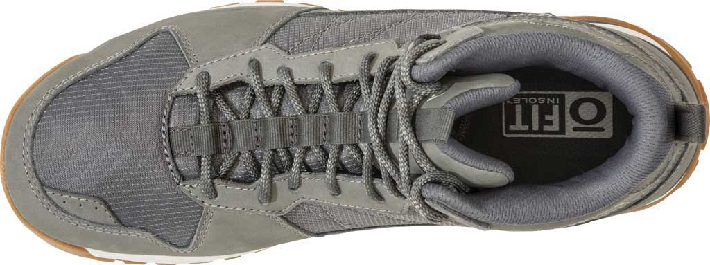Men's Oboz Bozeman Mid Sneaker, Steel Waterproof Nubuck/Recycled Textile, large, image 5