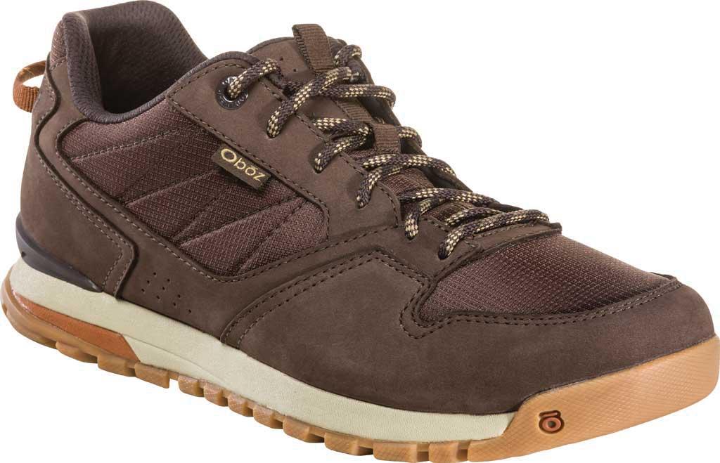 Men's Oboz Bozeman Low Trail Shoe, Bark Waterproof Nubuck/Recycled Textile, large, image 1