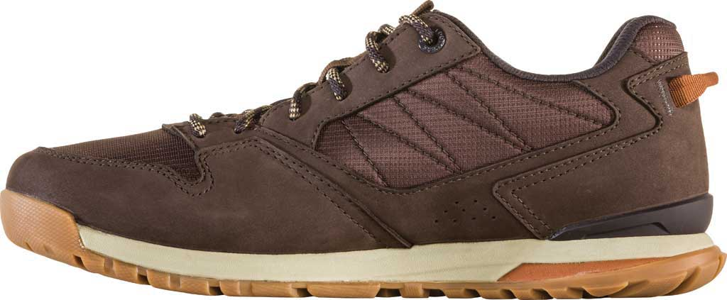 Men's Oboz Bozeman Low Trail Shoe, Bark Waterproof Nubuck/Recycled Textile, large, image 3