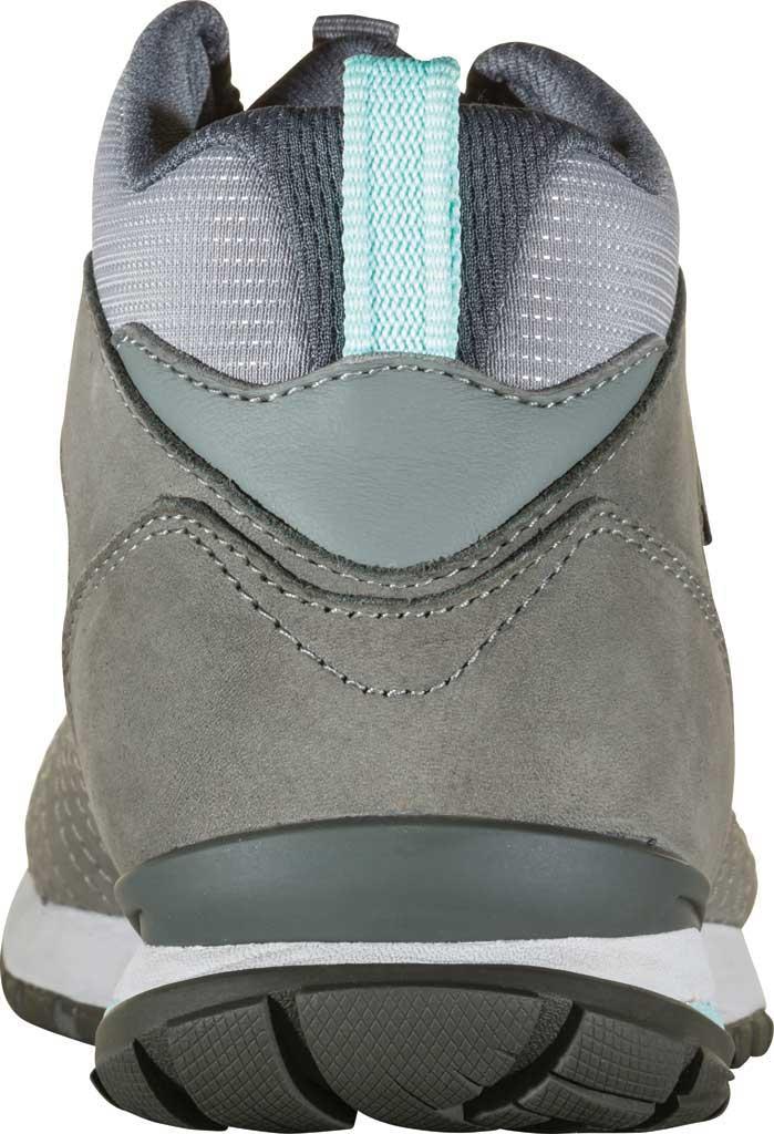 Women's Oboz Bozeman Mid Sneaker, Steel Waterproof Nubuck/Recycled Textile, large, image 4