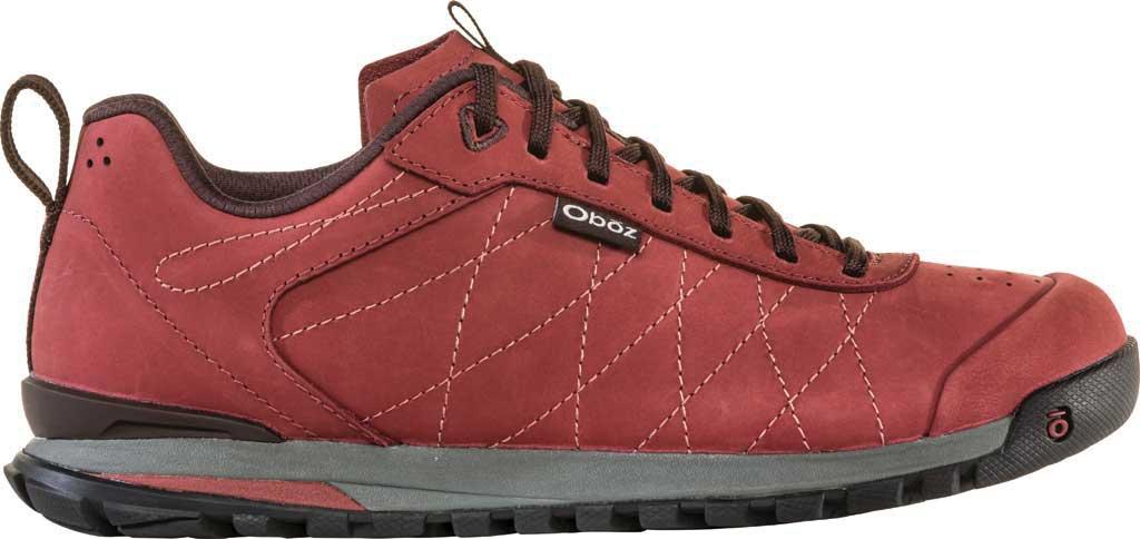 Women's Oboz Bozeman Low Leather Trail Shoe, Red Currant Waterproof Split Suede, large, image 2