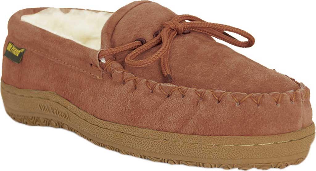 Women's Old Friend Loafer Moc, Chestnut II Suede, large, image 1