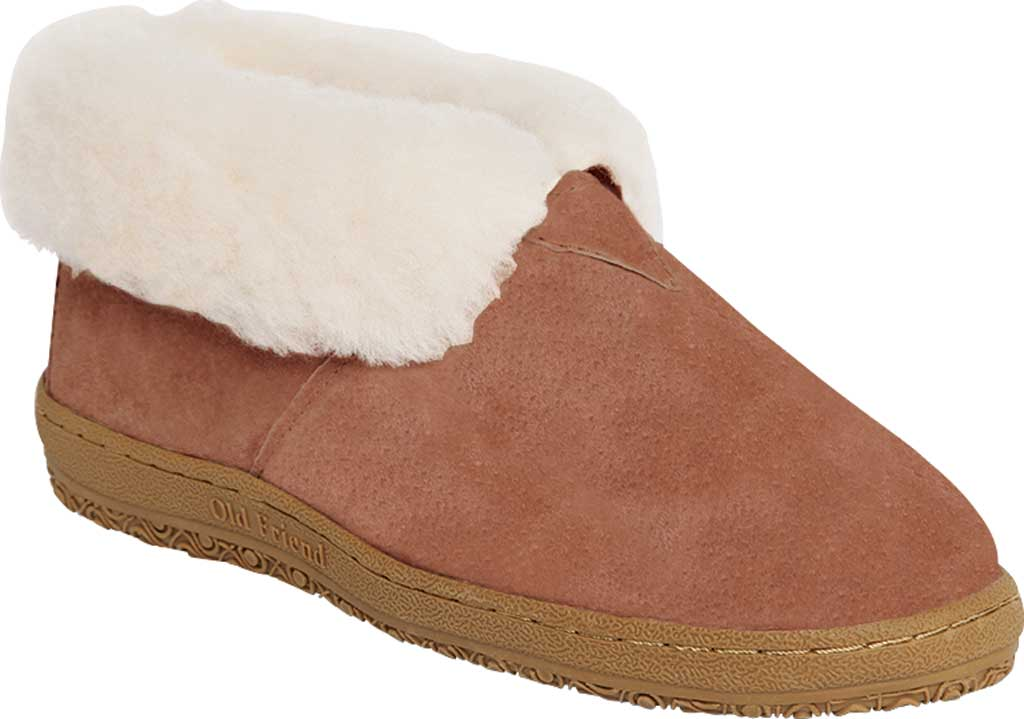 Women's Old Friend Bootee Slipper, Chestnut II Suede, large, image 1