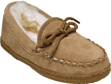 Children's Old Friend Loafer Moccasin Slipper, Chestnut, large, image 1