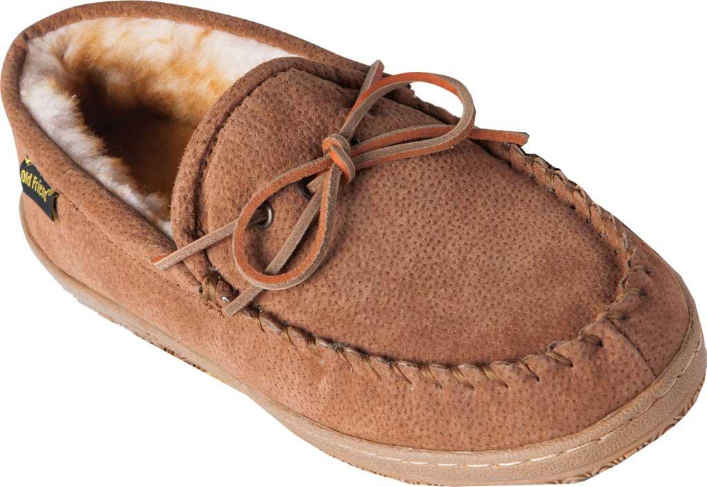 Men's Old Friend Loafer Moc, Chestnut II Suede, large, image 1