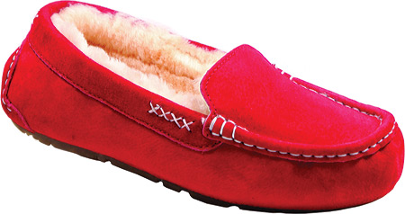 Old Friend Womens Bella Ruby Red Moccasin Slippers Size 11 139469