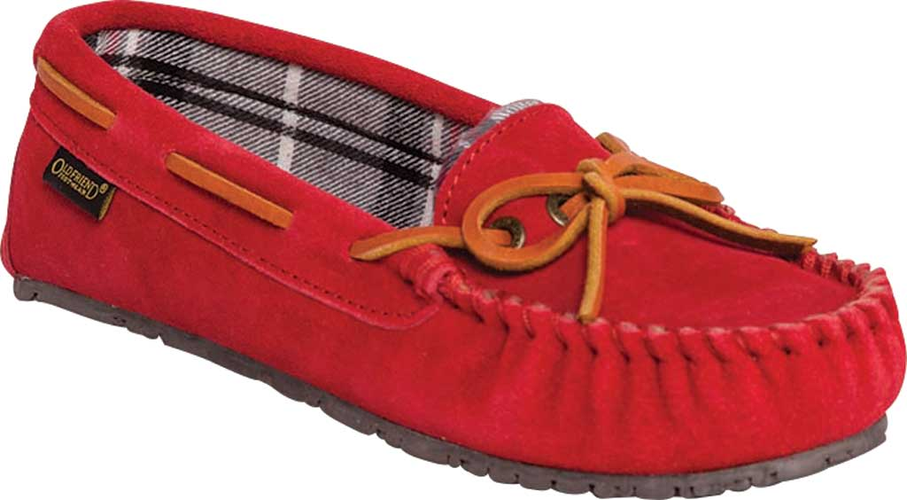 Women's Old Friend Kelly Slipper, Red Suede, large, image 1