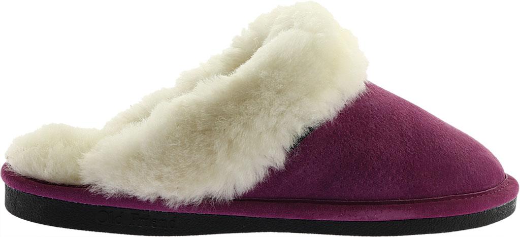 Women's Old Friend Scuff Slipper, Purple Leather, large, image 2